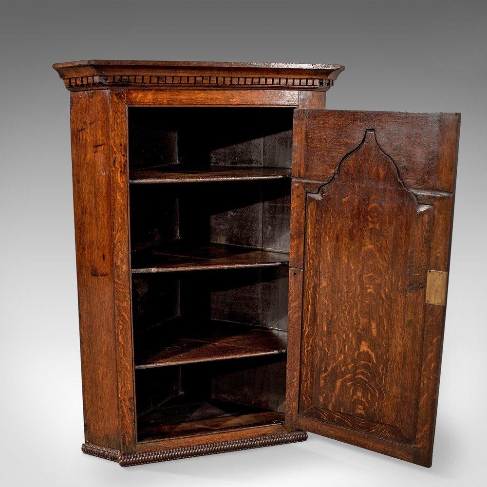 Antique Corner Cabinets Antique Corner ... - Antique Corner Cabinet, English Oak. - Antiques Atlas