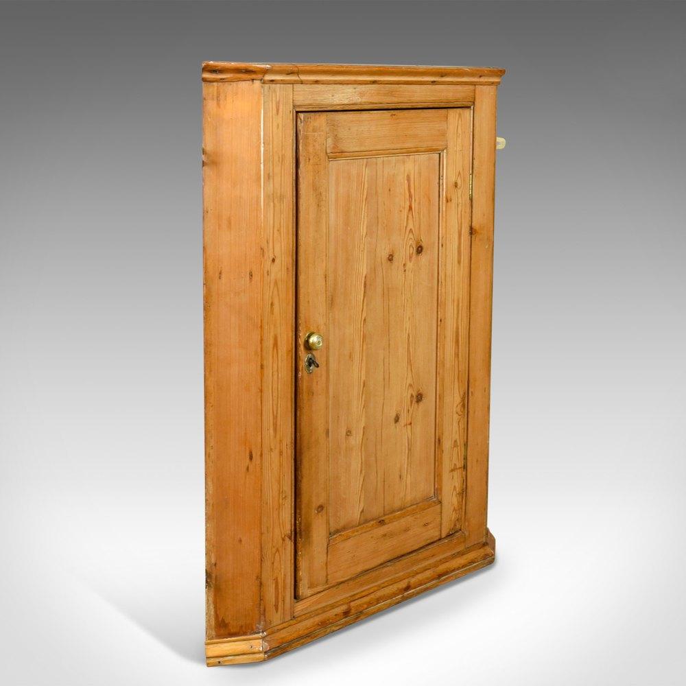 ... Antique Wall Cabinets Antique Corner ... - Antique Corner Cabinet, English, Victorian, Pine, - Antiques Atlas