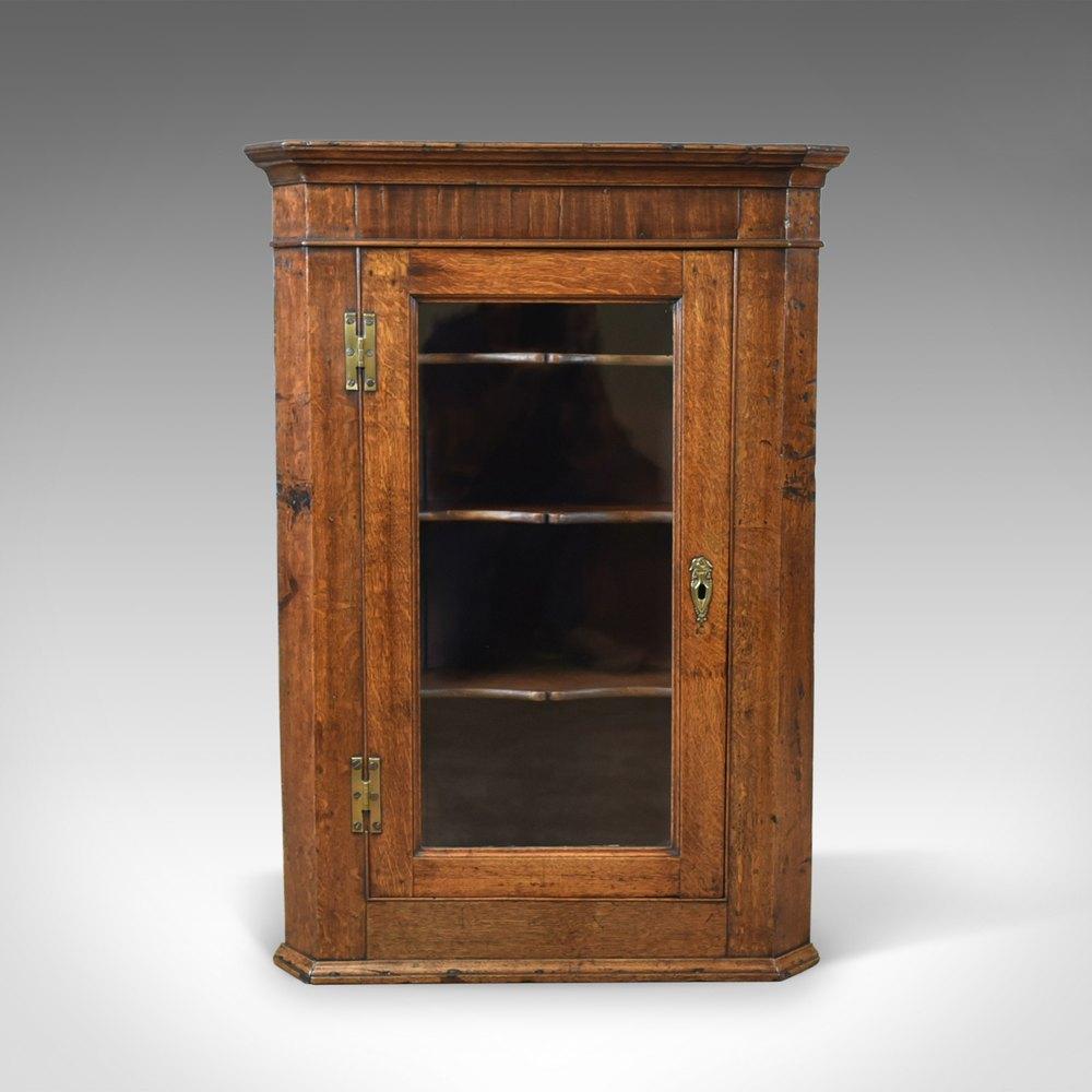 Antique Corner Cabinet, Oak, Mahogany, ... - Antique Corner Cabinet, Oak, Mahogany, Georgian - Antiques Atlas
