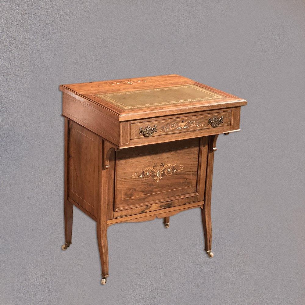Antique Davenport Edwardian Tilt Top Desk
