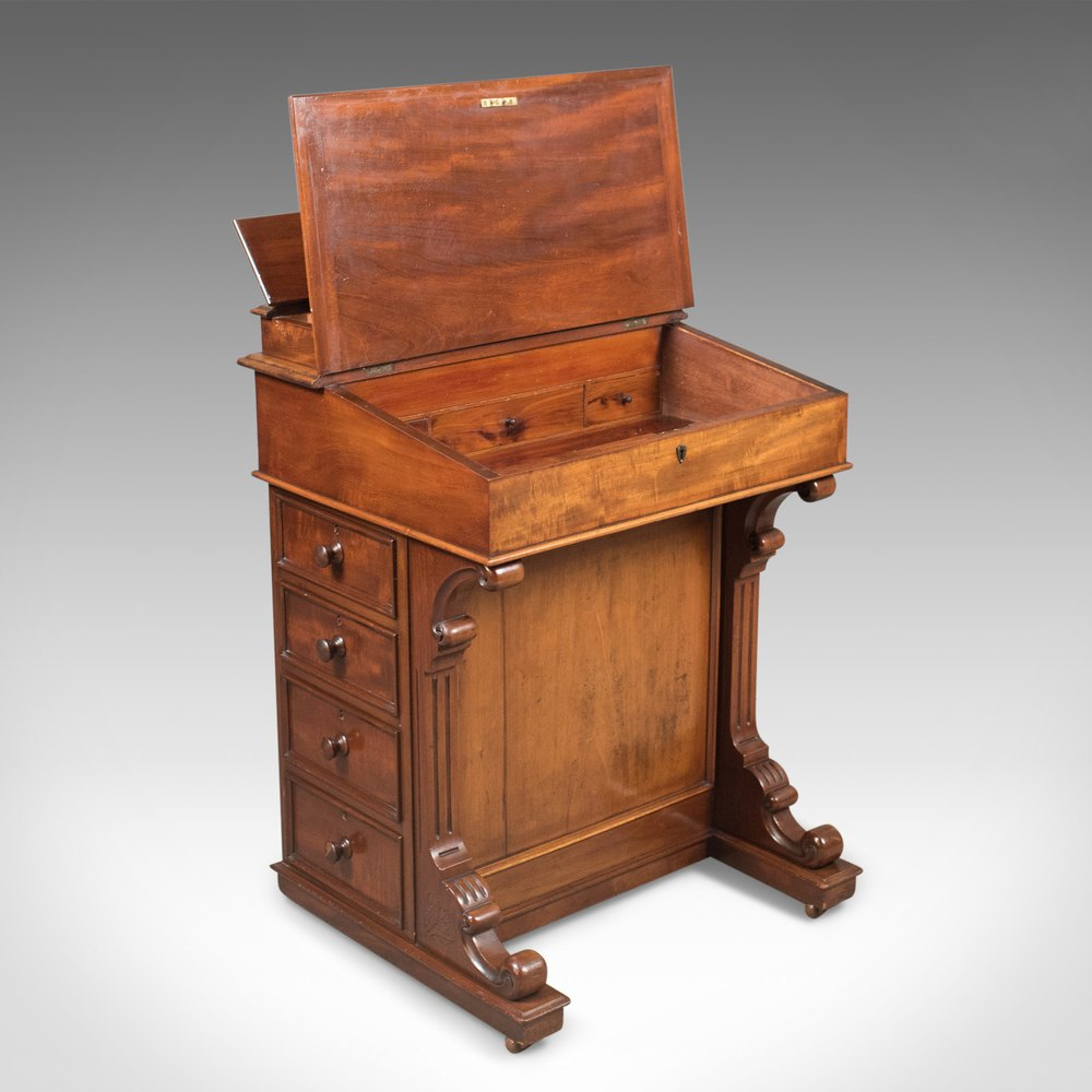 Victorian Writing Desk Antique Davenports Davenport