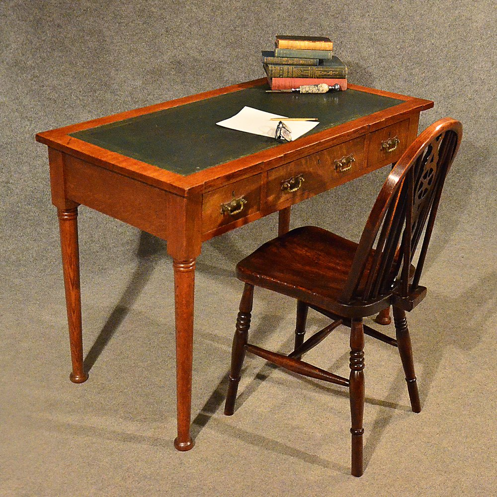 Desk Leather Top Library Writing Study