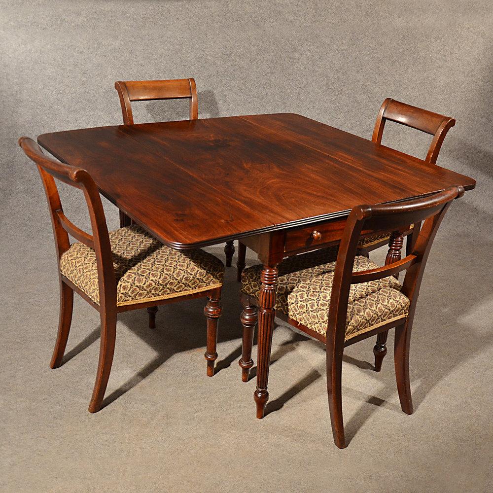 Antique Dining Table Pembroke Drop Leaf English - Antiques ...