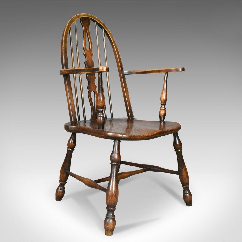 Antique Elbow Chair, English, Victorian, ...