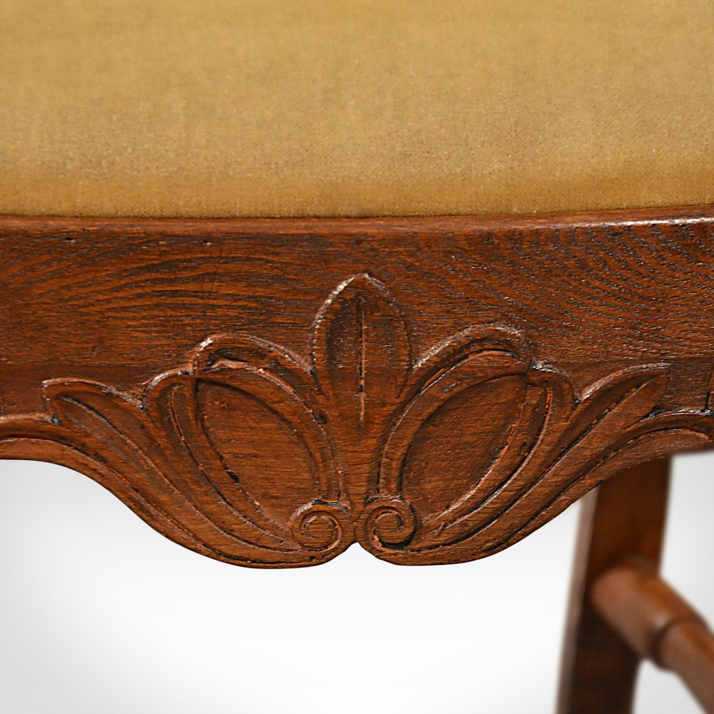 Antique Elbow Chair Large Oak Ash Elm Study Desk