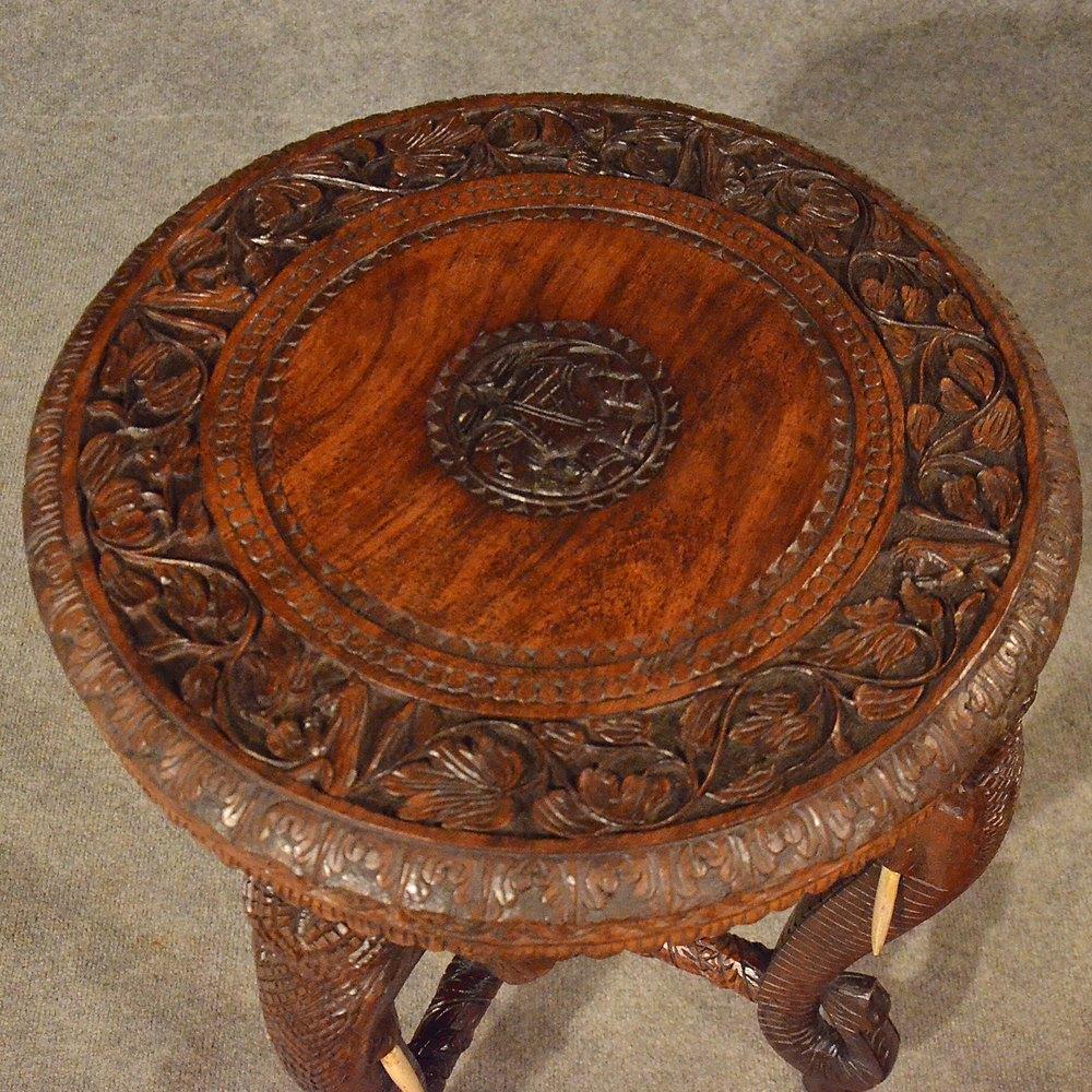 Antique Elephant Table Lamp Wine Side Table Antiques Atlas