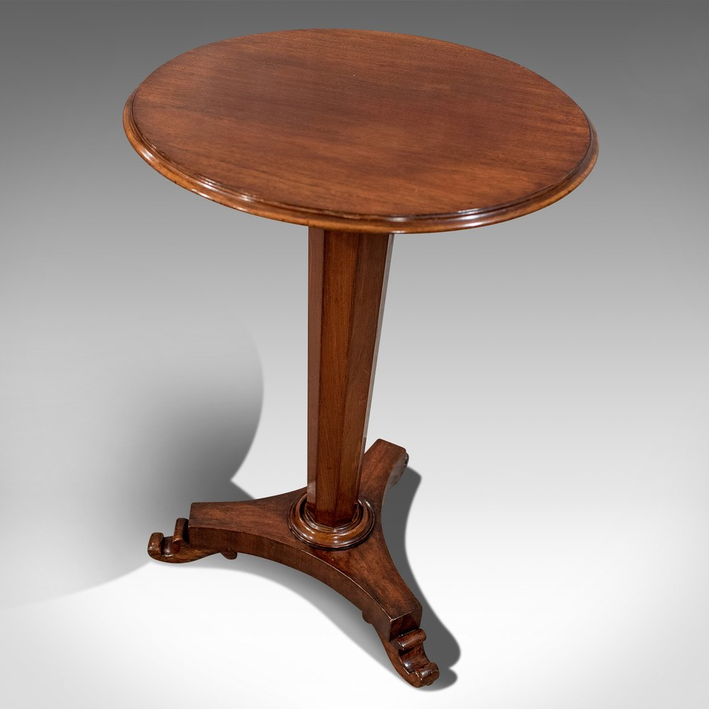 Antique english regency quality mahogany wine lamp table geotapseo Gallery