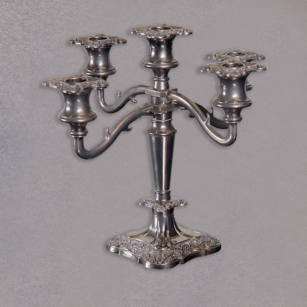 Antique English Silver Plated Candelabra ... & Antiques Atlas - Antique English Silver Plated Candelabra Candle