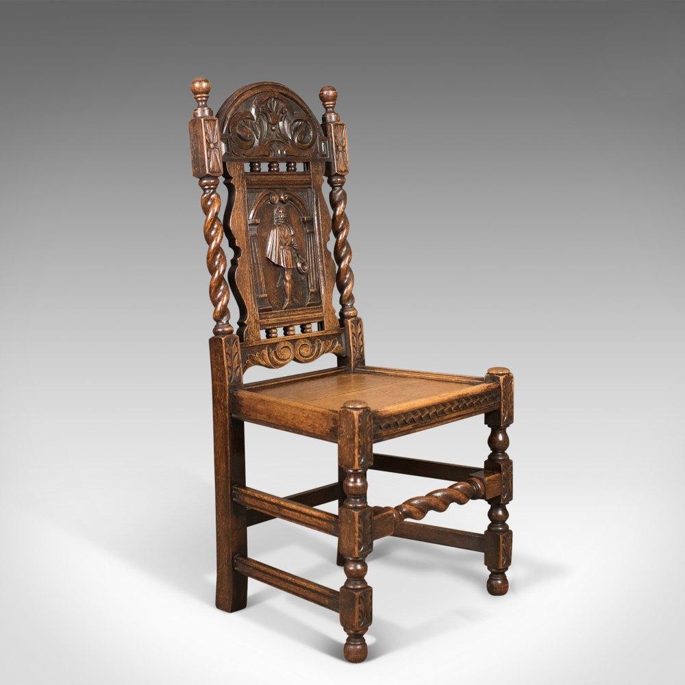 Antique Foyer Chair : Antique flemish hall chair carved oak c antiques atlas