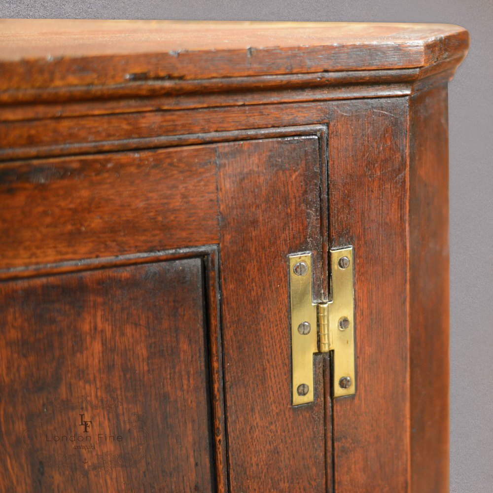 Antique Hanging Corner Cabinet Georgian Cupboard Cabinets
