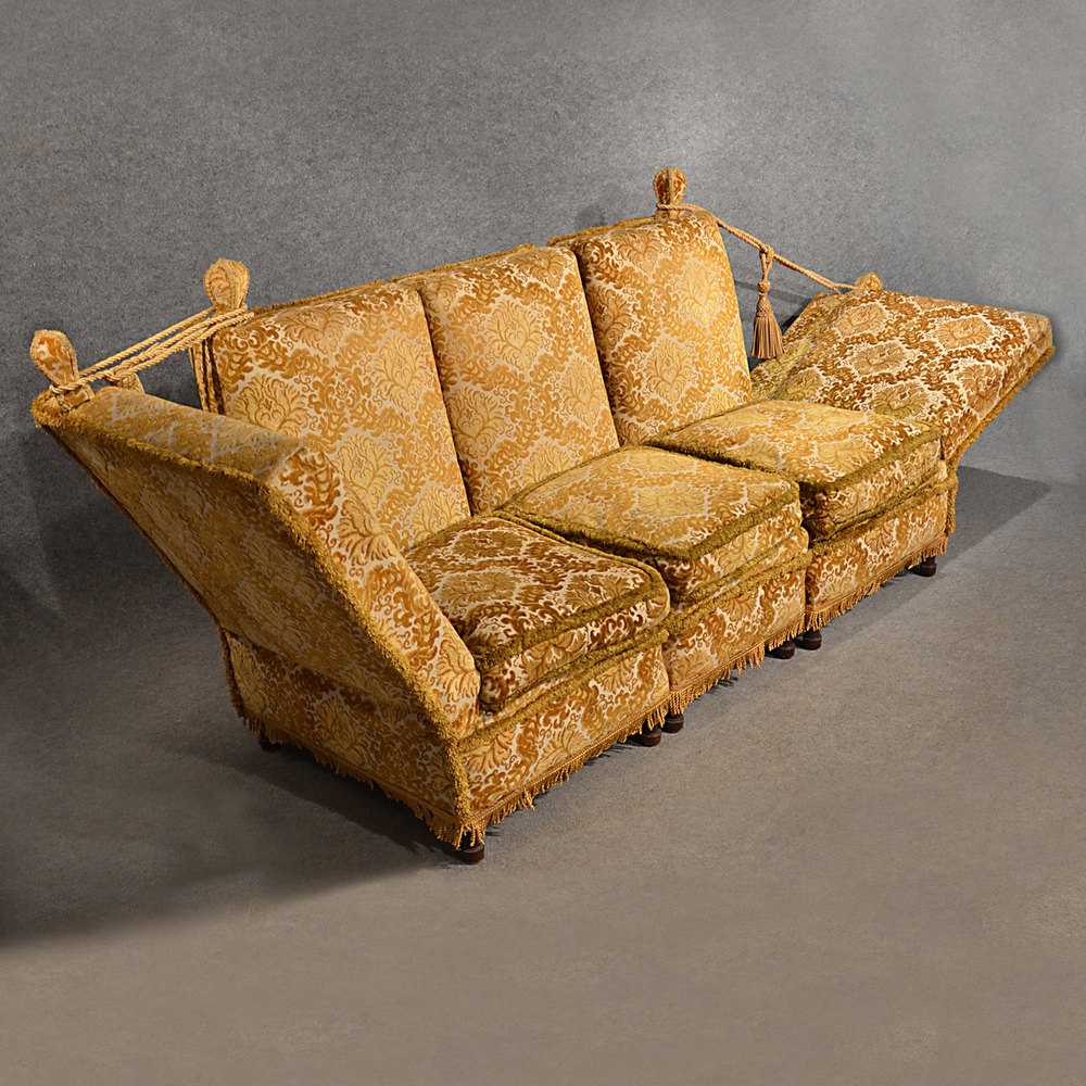 Antique Knole Sofa Couch Settee Large 3 Seater ...