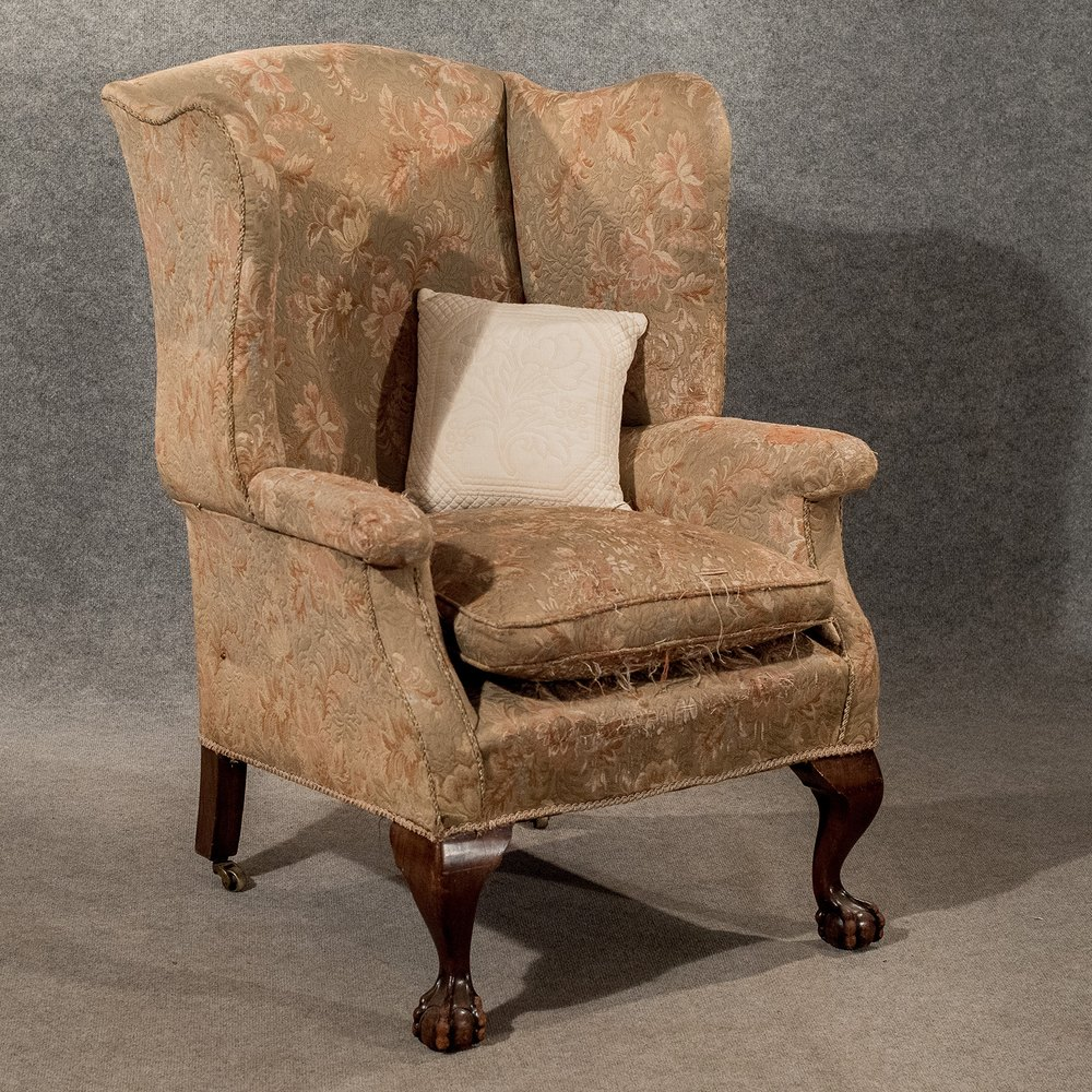 Antique Large Wing Armchair Wingback Fire Side - Antiques ...