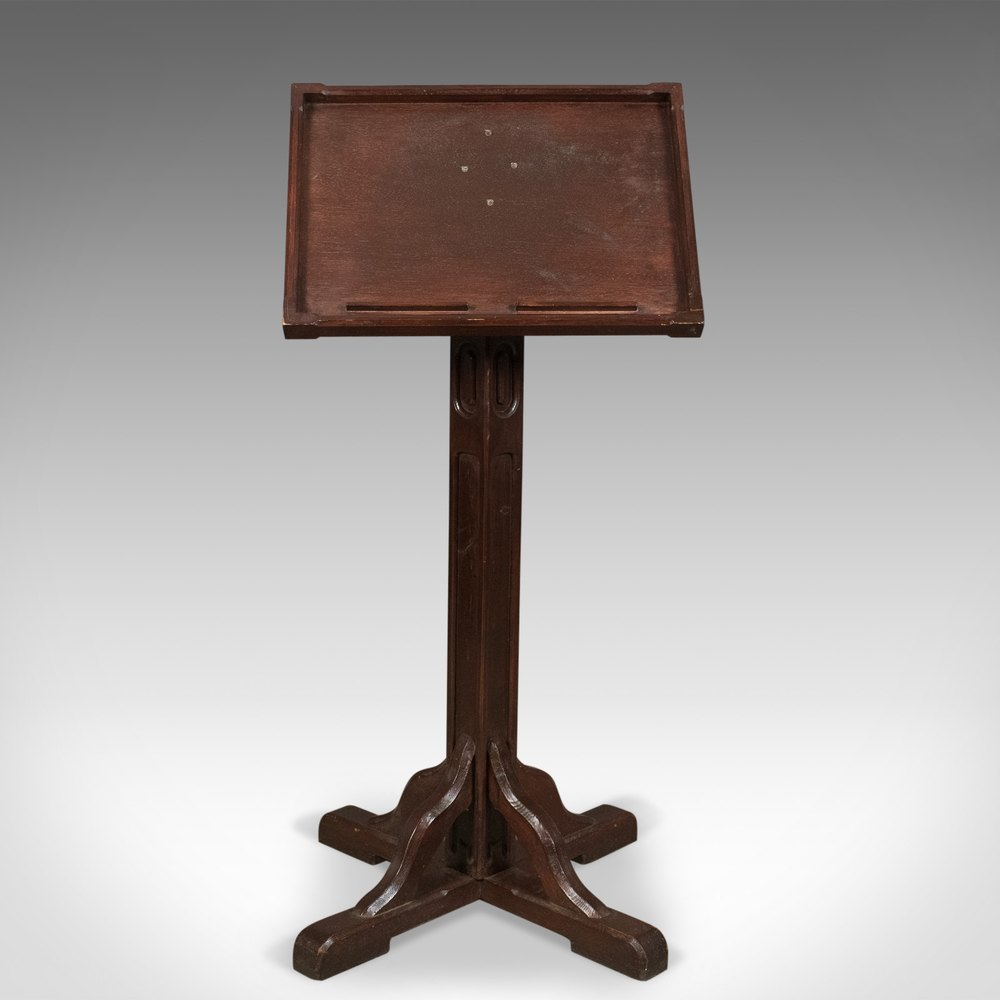 Antique Lectern In Pitch Pine English Book Rest