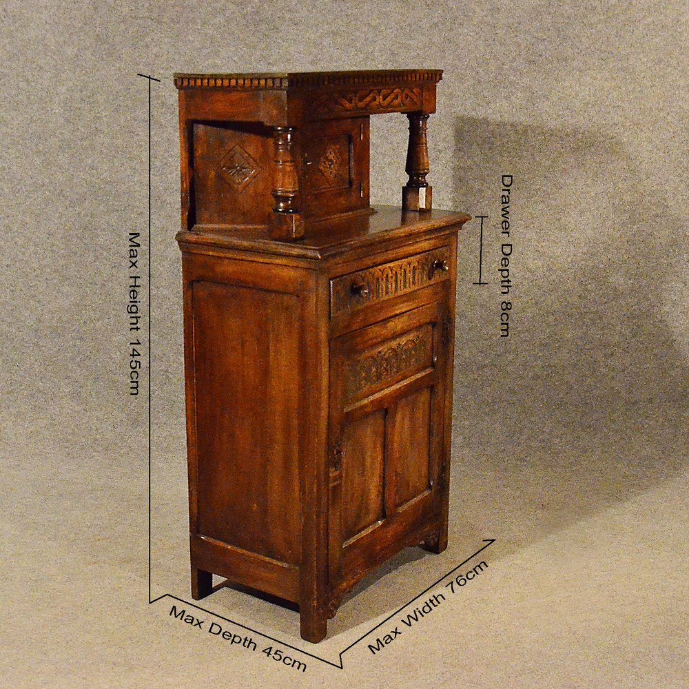 Antique Narrow Sideboard Cabinet Court Cupboard Antique Court Cupboards ... - Antique Narrow Sideboard Cabinet Court Cupboard - Antiques Atlas