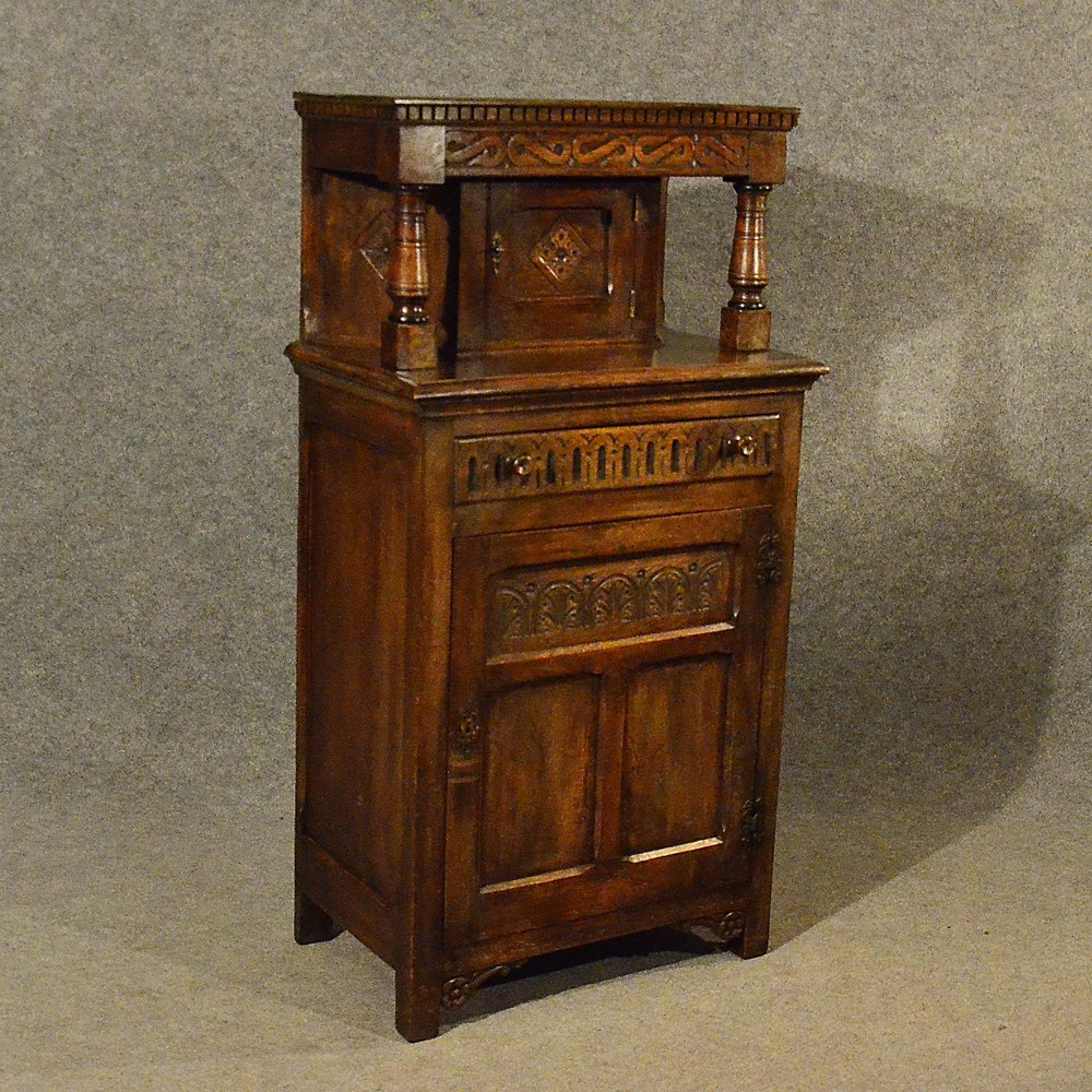 Antique Narrow Sideboard Cabinet Court Cupboard ...