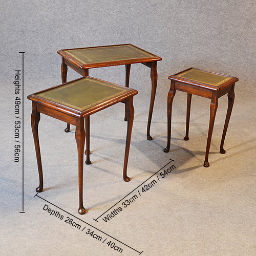 Antique Nest Tables Side Occasional English Antique Nest Of Tables ...