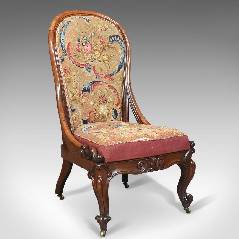 ... Antique Nursing Chair English - Victorian Antique Nursing Chairs - Antiques Atlas