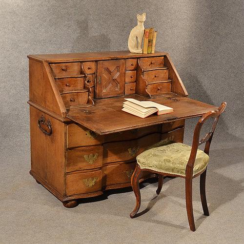 Antique Oak Bureau Writing Study Desk Fine Quality ... - Antique Oak Bureau Writing Study Desk Fine Quality - Antiques Atlas