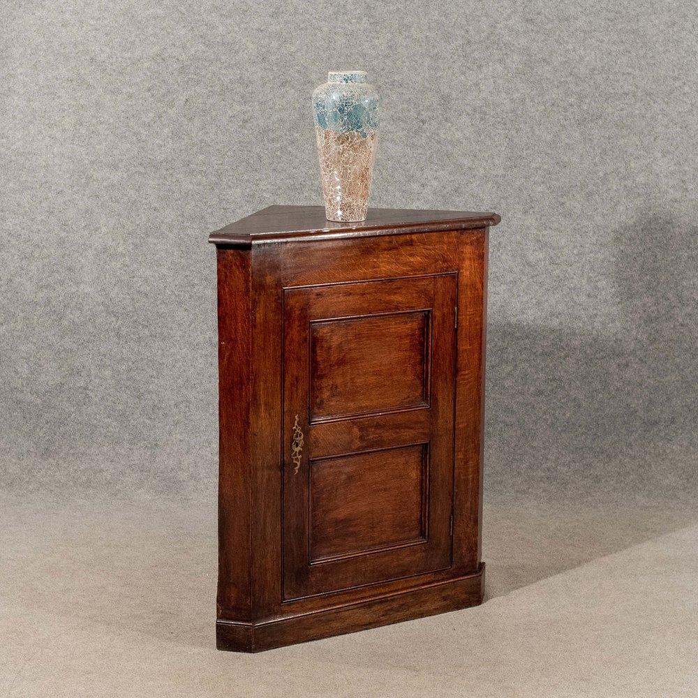 Antique Oak Corner Cupboard Display Cabinet Antiques Atlas