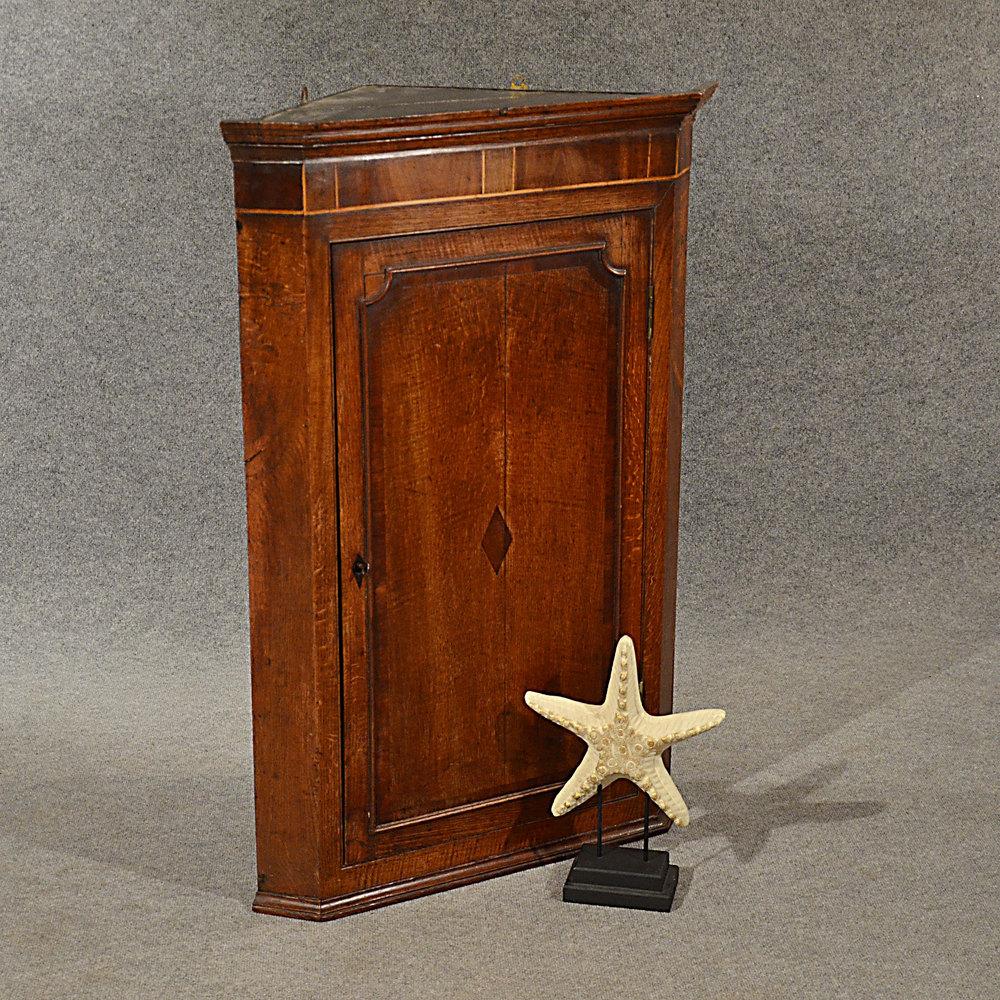 Antique Oak Corner Cupboard Quality English ... - Antique Oak Corner Cupboard Quality English - Antiques Atlas