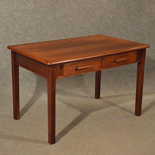 Antique Oak Desk Kitchen Dining Table - Antiques Atlas - Antique Oak Desk Kitchen Dining Table