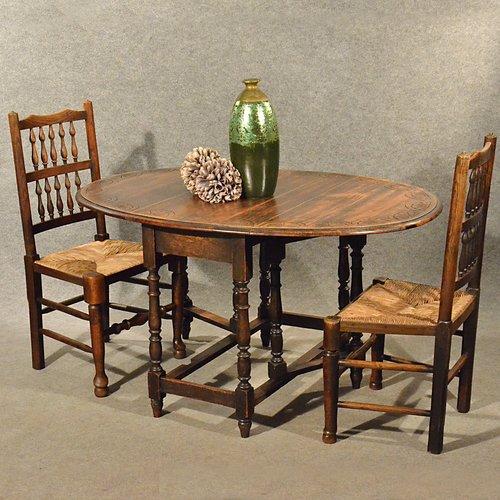 Antique Oak Dining Kitchen Table Small Gateleg Antiques Atlas