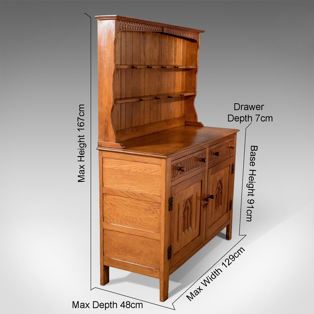 Antiques atlas antique oak kitchen display dresser cabinet for Kitchen display