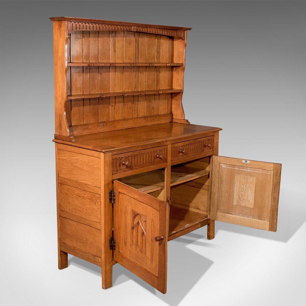 Antique Kitchen Cabinet: Antique Oak Kitchen Display Dresser Cabinet