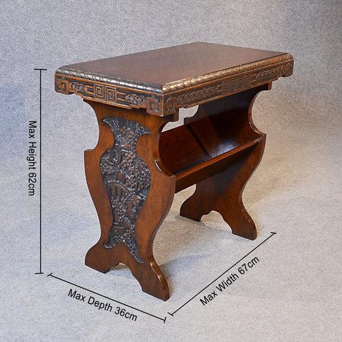 Merveilleux Antique Occasional Side Table Book Magazine Rack Antique Side Tables ...