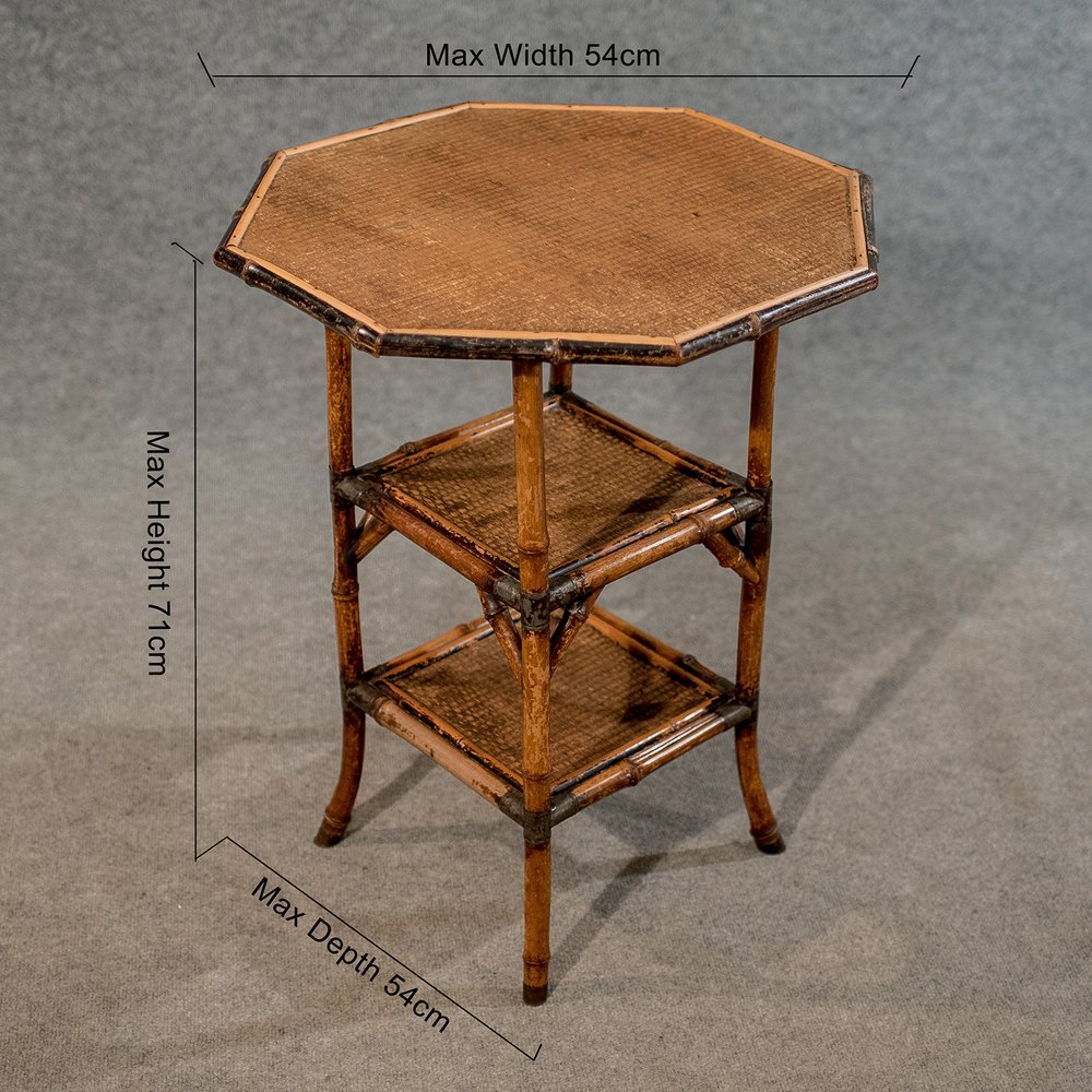Antique Octagonal Bamboo Table Lamp Side Antiques Atlas