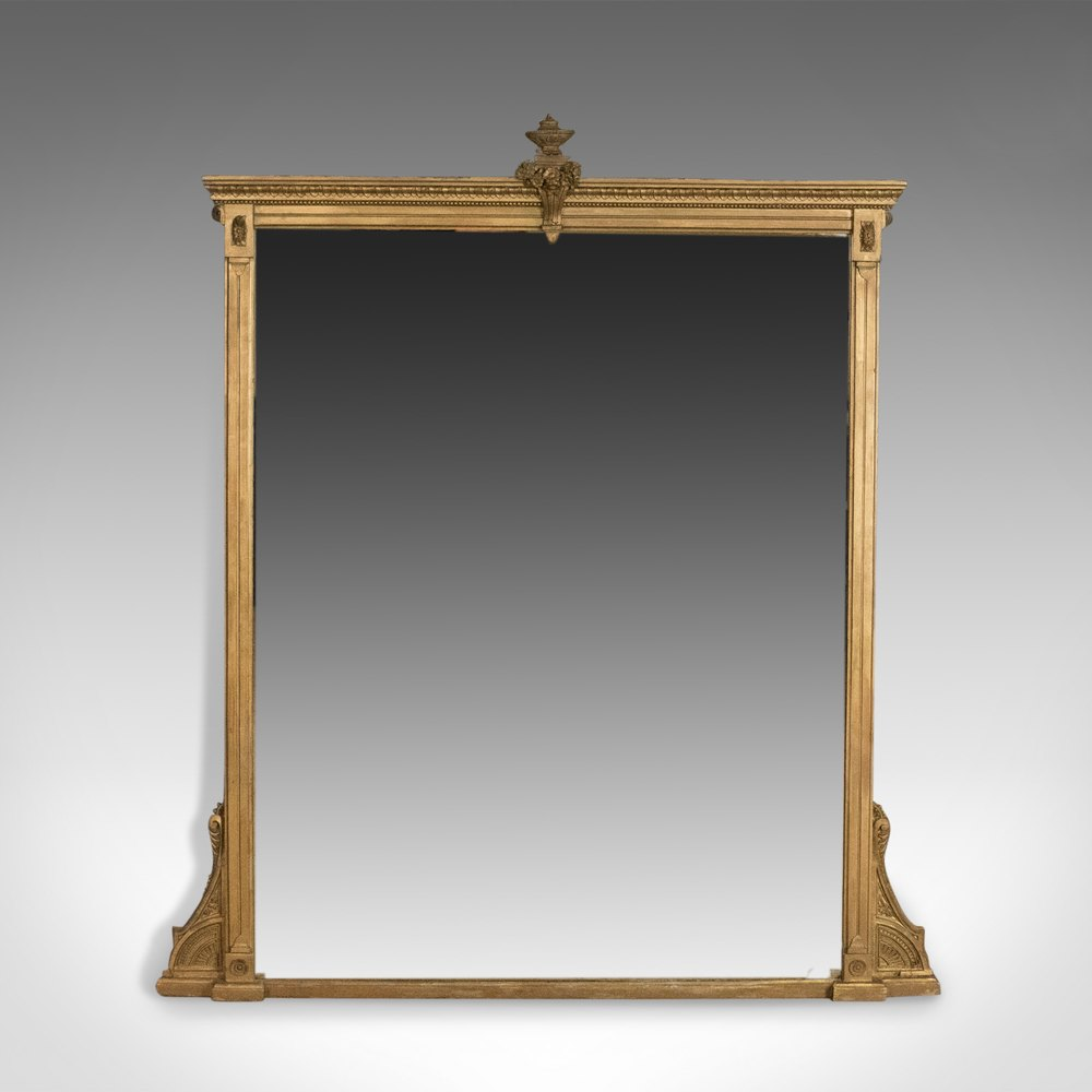 Antiques Atlas Antique Overmantel Mirror English Victorian