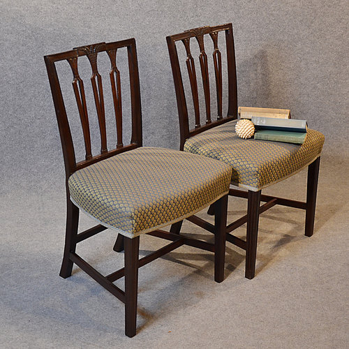 Antique Pair Chairs Sheraton Period Georgian ... - Antique Pair Chairs Sheraton Period Georgian - Antiques Atlas
