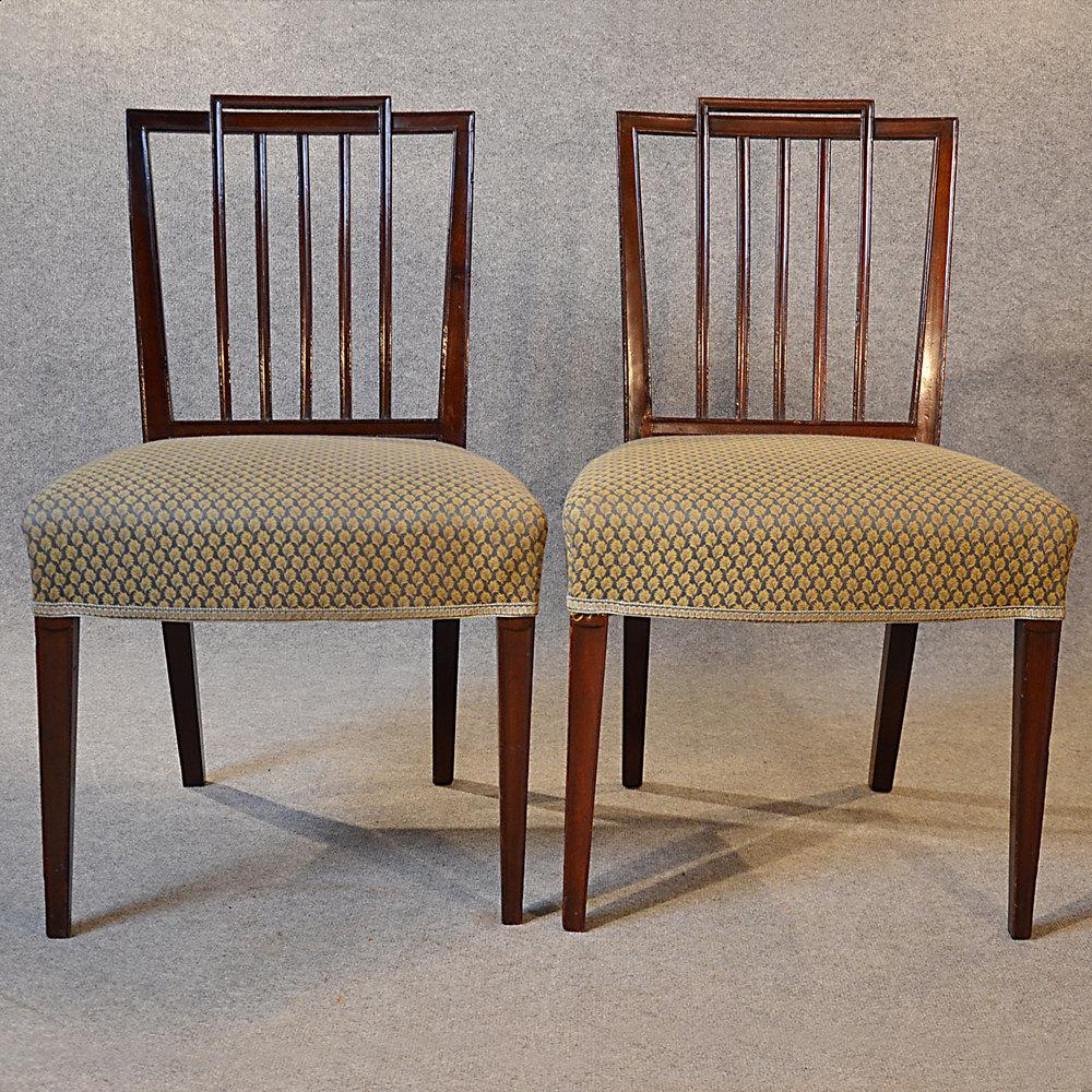 Antique Pair Chairs Sheraton Period Georgian Antique Side Chairs Antique  Pair Chairs %%alt5% - Antique Sheraton Furniture Antique Furniture