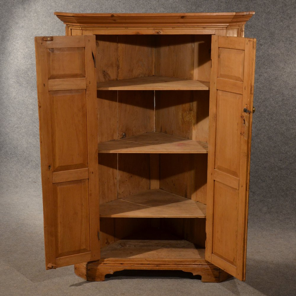 Antique Pine Corner Cabinet Cupboard Larder Antiques Atlas
