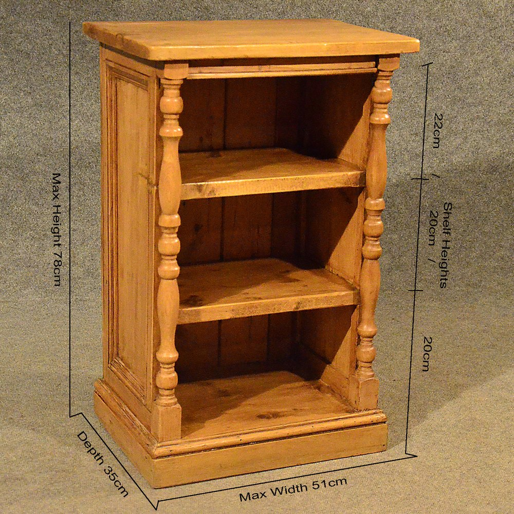Antique Pine Narrow Cabinet Bookcase Shelves Antiques Atlas