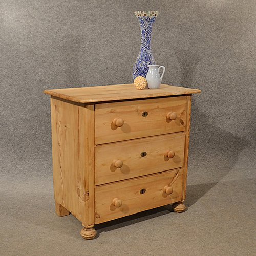 Antique Pine Small Chest Of Drawers Quality