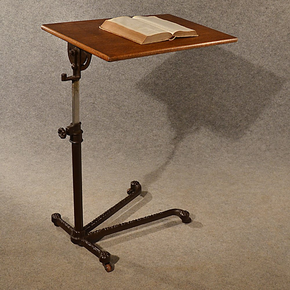 Antique Reading Table Music Book Stand Lectern Antiques