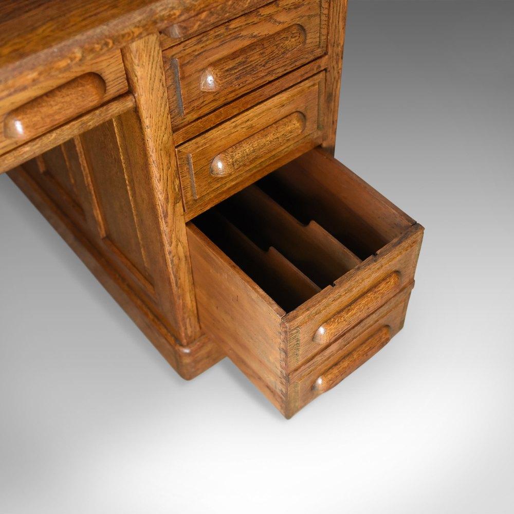 Antique Roll Top Desk English Oak Victorian Antiques