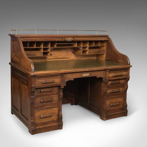 - Antique Roll Top Desk, Shannon File Co., English - Antiques Atlas