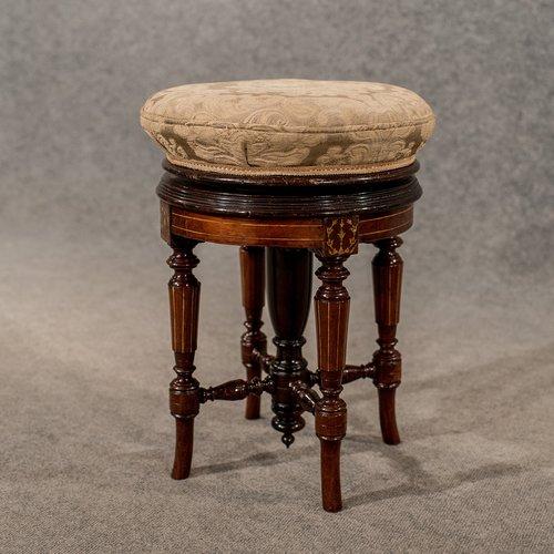 Furniture 100% Quality Antique 18th Century Style Walnut Stool
