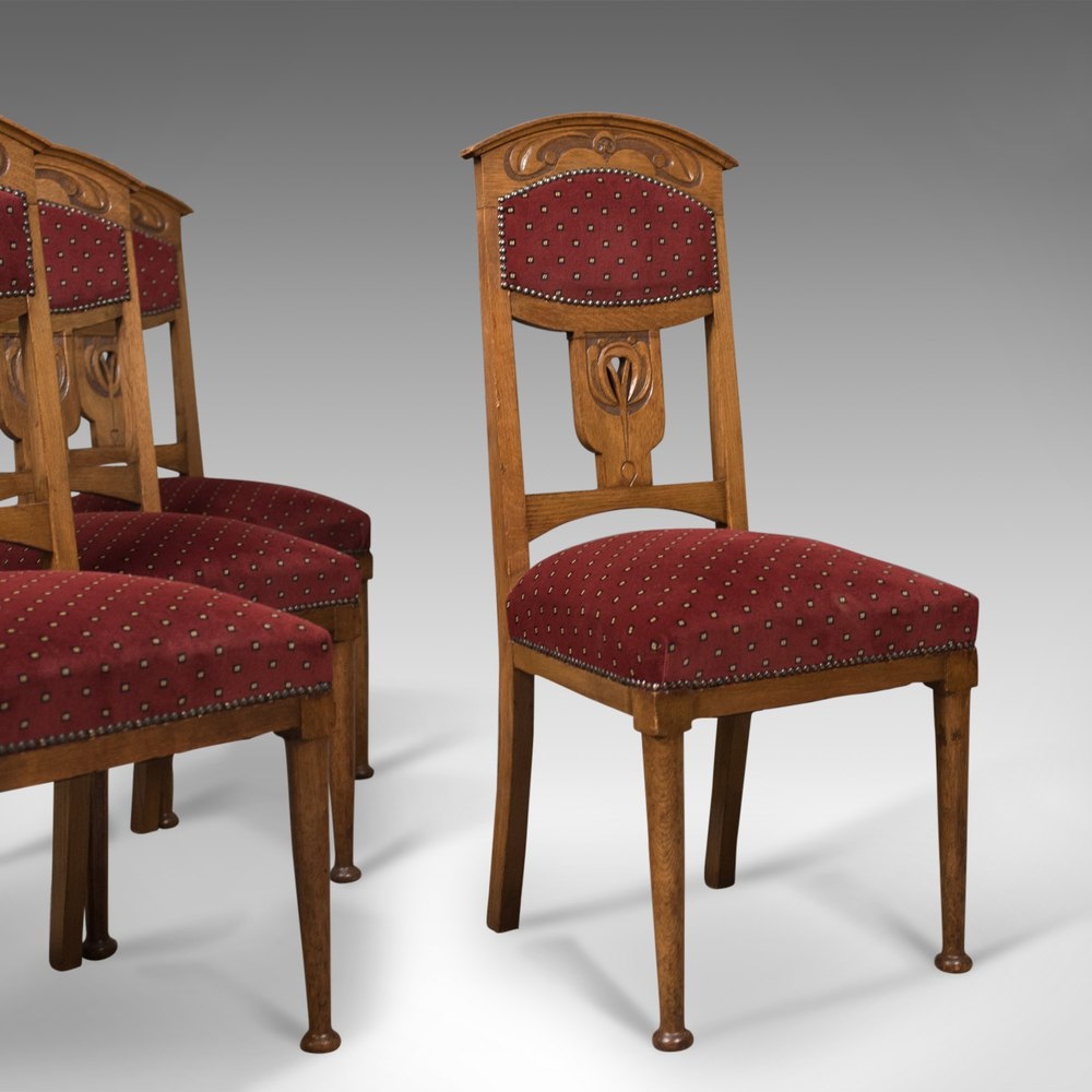Antique set of dining chairs liberty taste antiques