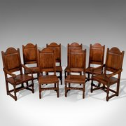 Chairsthe Vintage Interiors Antique Set Of 8 Oak Dining Ch