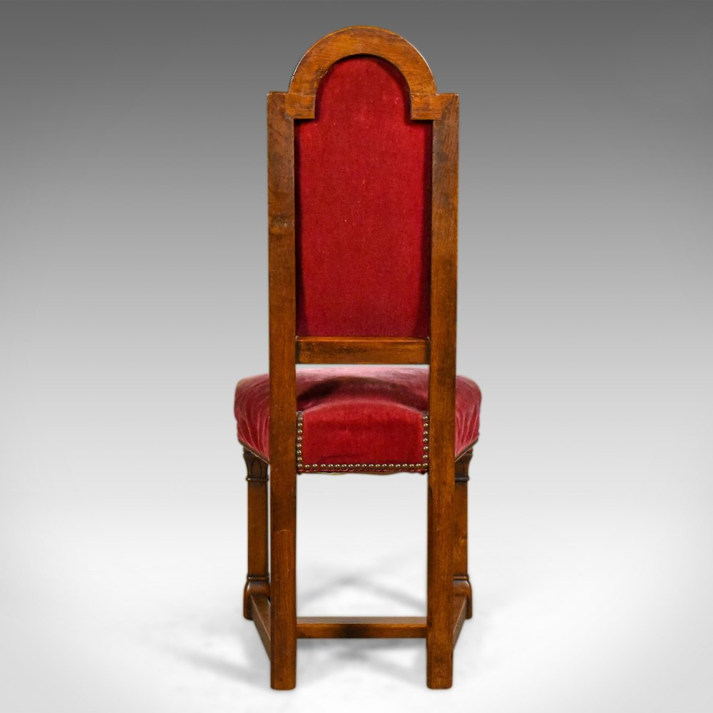 Antique Set Of Eight Dining Chairs English Oak