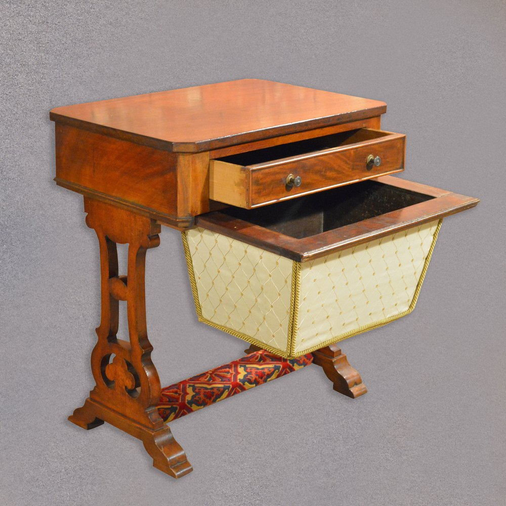 antique sewing table victorian work table antiques atlas. Black Bedroom Furniture Sets. Home Design Ideas