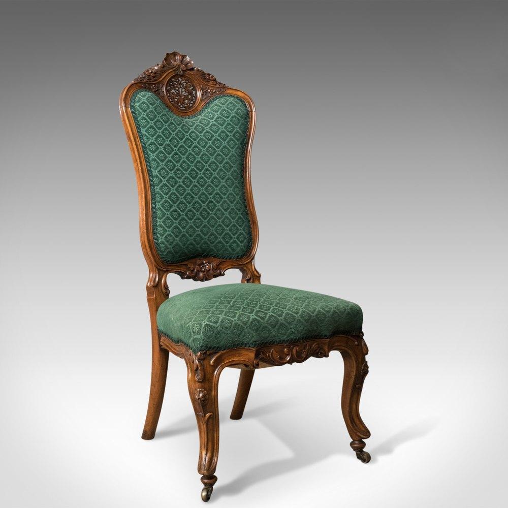 Antique Side Chair 19th Century Nursing Salon