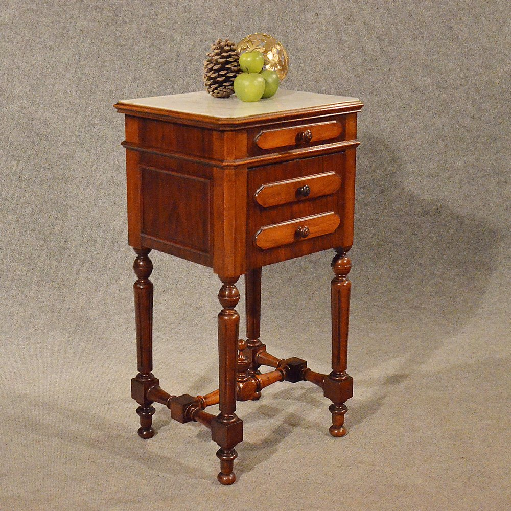 Antique Small Cabinet Side Table Bedside Cupboard ...