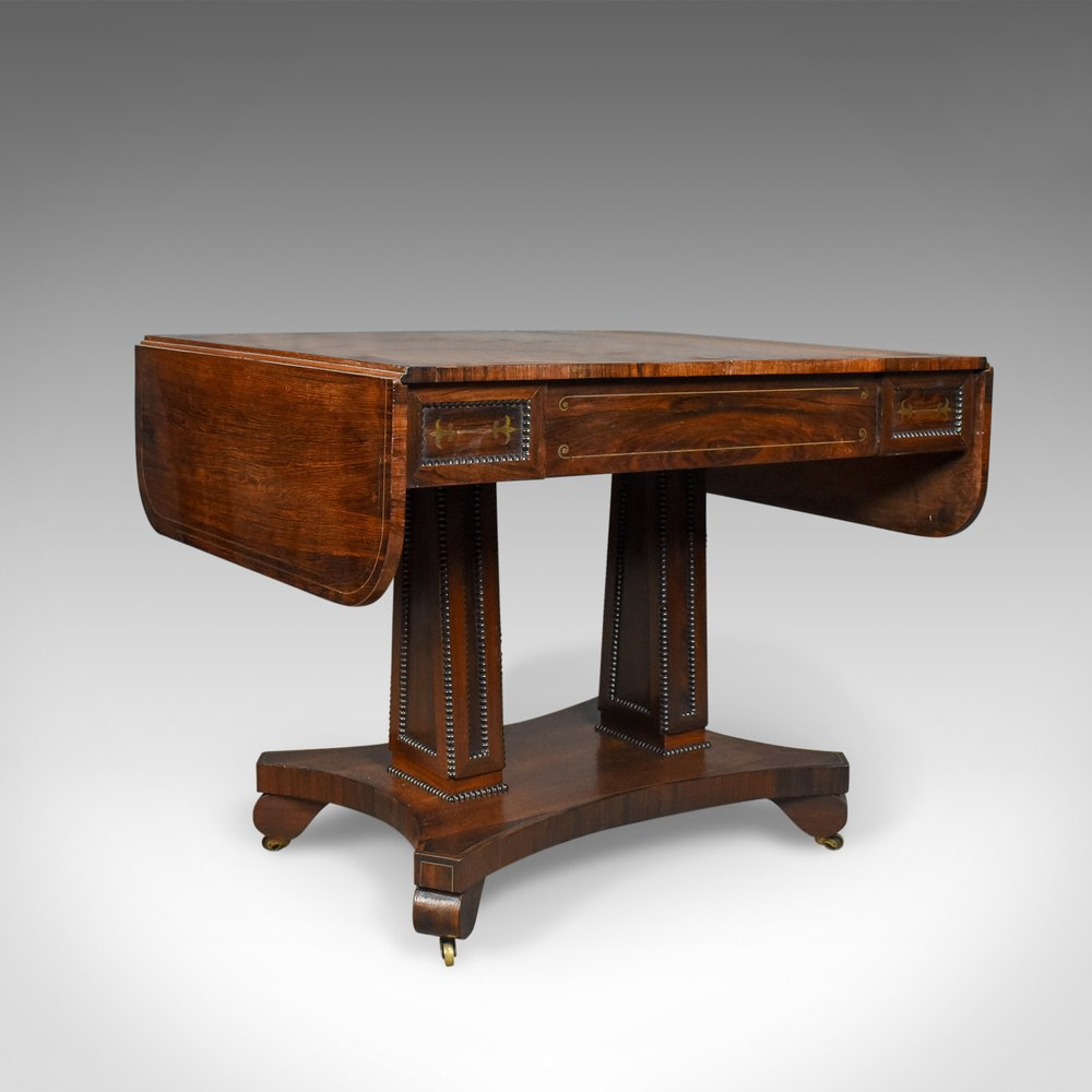 Antique sofa table rosewood english regency antiques for Sofa table vintage