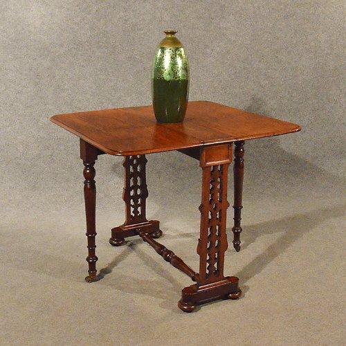 Antique Furniture Antique Drop Leaf Card Table