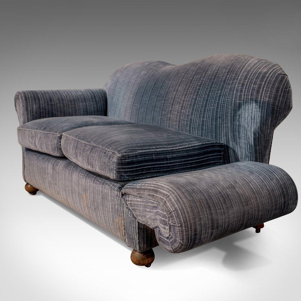 Antique Drop Arm Sofa: Antique Victorian Chesterfield Sofa Drop Arm Sette
