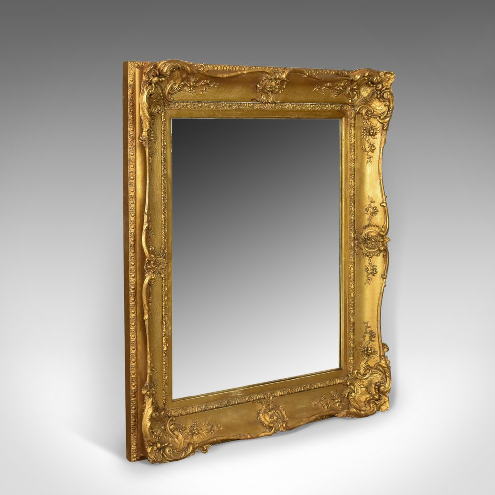 Antiques atlas antique wall mirror gilt gesso frame for Antique wall mirrors